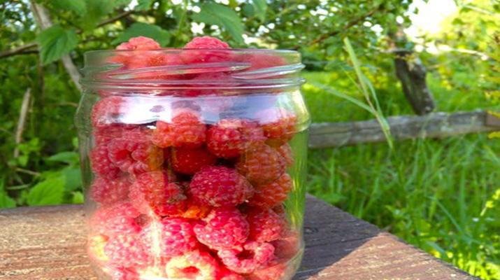 Варенье из малины с целыми ягодами