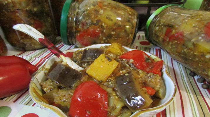 Маринованные баклажаны с тыквой
