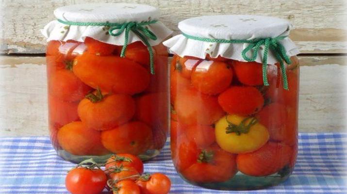 Маринованные помидоры на зиму без уксуса