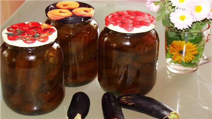 Баклажаны, консервированные на зиму по-быстрому