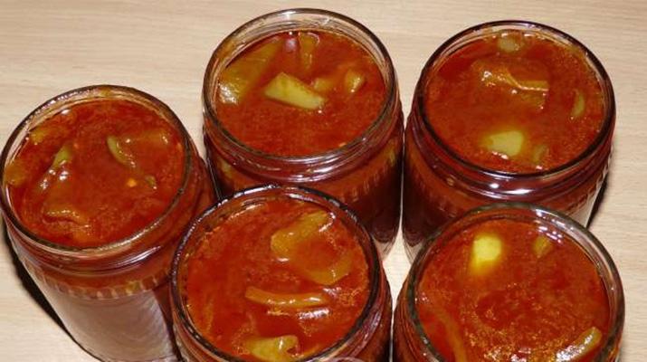 Лечо из перца и помидор без уксуса по-закарпатски