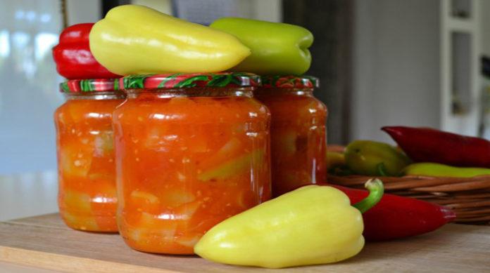 Перец болгарский в томатном соусе на зиму
