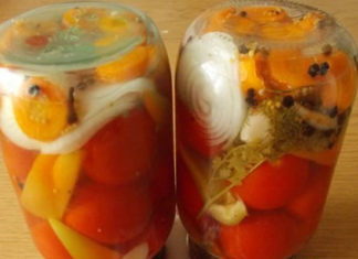 Консервированные помидоры с перцем на зиму