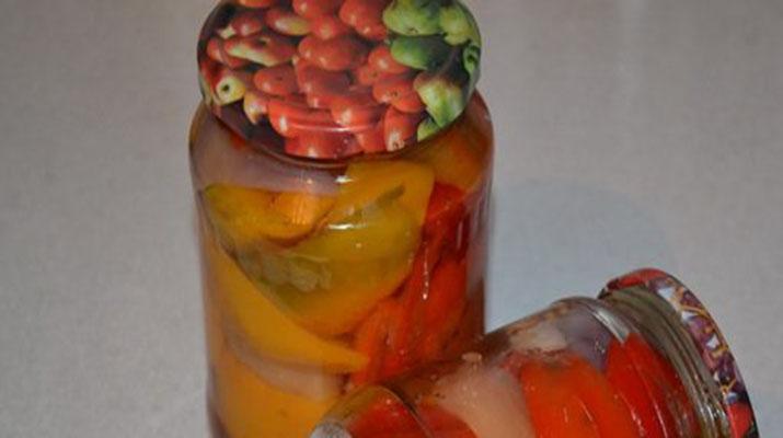 Маринованный болгарский перец с чесноком на зиму