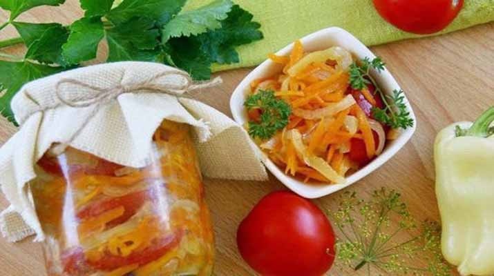 Салат овощной каприз на зиму
