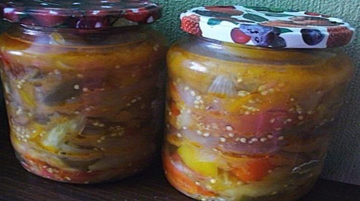 Помидоры с овощами на зиму