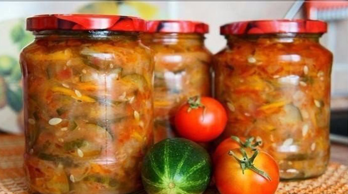 Маринованный салат на зиму Разносол