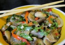 Жаренные консервированные грибы