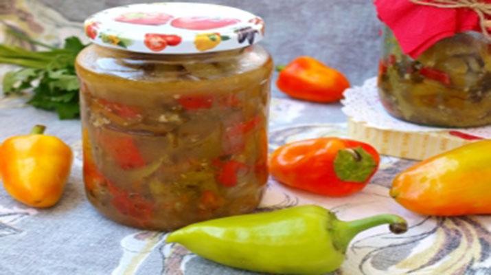 Болгарские перцы с чили и чесноком на зиму