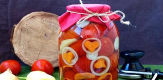 Консервированные помидоры с арбузом