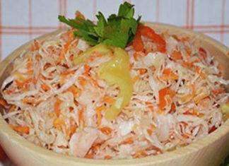 Маринованная капуста с болгарским перцем и морковью