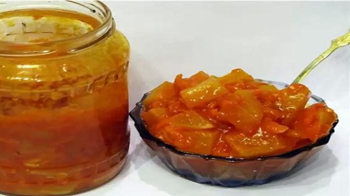 Кабачки с морковью и перцем на зиму
