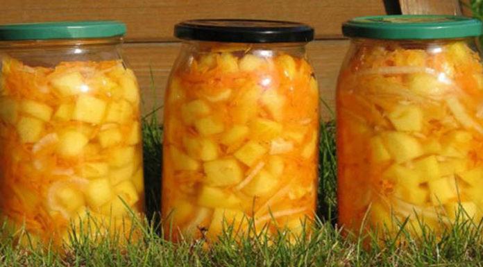 Маринованные кабачки с морковью, луком и чесноком