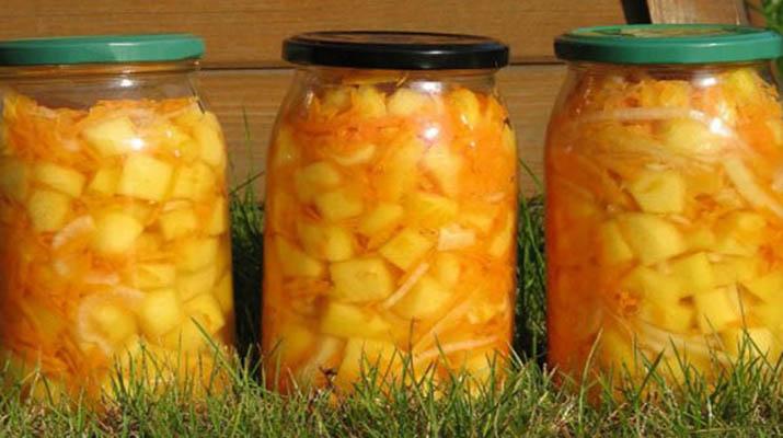 Рецепты из кабачков на зиму с морковью и луком и помидорами