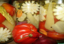 Салат на зиму из огурцов и перца «Зимняя сказка»